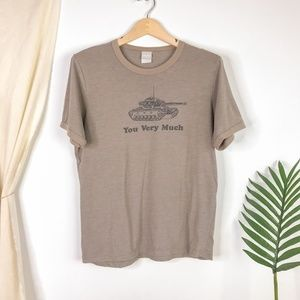 Utility Tank You Very Much Olive Green Ringer Tee